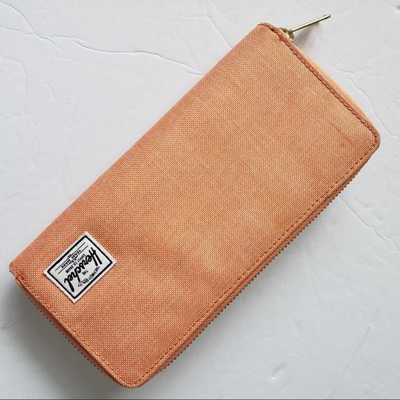 Herschel long canvas zip wallet